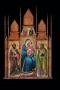 Luca di Tommè, Madonna col Bambino e i santi Giacomo e Filippo (o Andrea); Annunciazione (nel coronamento)