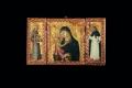 Sano di Pietro, Madonna col Bambino e i santi Bernardino da Siena e Vincenzo Ferrer