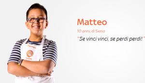 Matteo Galasso Junior Masterchef 2016