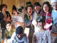 I giovani attori a P.Ricci