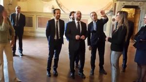Martin Schulz in visita a Palazzo Comunale