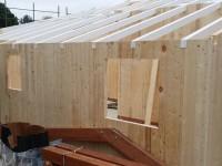 villetta legno castelnuovo fasi realizzazione