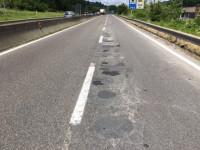 Tangenziale Ovest di Siena strada buche prima dei lavori