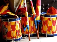 chiocciola tamburi e bandiere