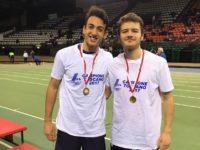 Uisp Atletica Siena Simone Delprato -centro- e Francesco Raciti - sx - campioni toscani 200m (1)