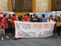 protesta studenti rettorato