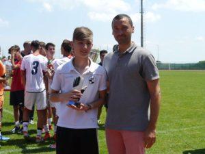 Marco Bacciottini (Robur Siena), premiato come miglior portiere del torneo