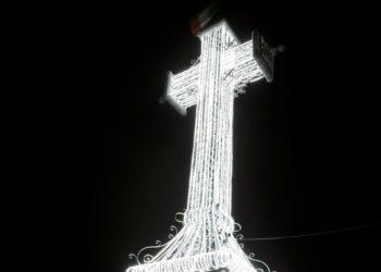 Croce Amiata illuminata