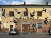 Street Art Castellina Benedetto Cristofani - stazione ferroviaria Castellina Scalo