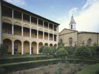 Pienza palazzo Piccolomini loggiato e giardino