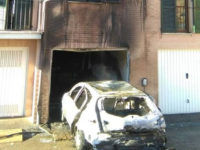 auto bruciata garage colle