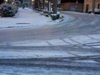 strada Lizza neve e ghiaccio