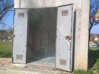 cabina elettrica a fuoco