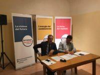 Valentini e Roberto De Vivo alla conferenza stampa su trasporto pubblico