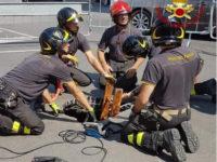 vigili fuoco buca asfalto Poggibonsi