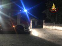 vigili fuoco incendio Chianciano notte