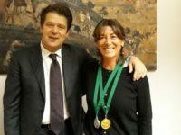 Valeria Madaro con dirigente scolastico Tiziano Neri