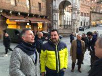 Salvini con De Mossi in Piazza