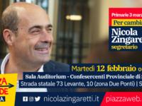 Zingaretti a Siena 12 febbraio
