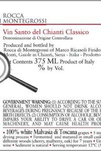 etichetta no canticci nel vin santo