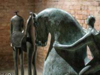 mostra guerrieri cavalli centauri