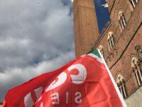 bandiera cgil siena torre del mangia