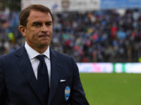 FERRARA, ITALY - MAY 07:  SPAL head coach Leonardo Semplici  looks dejected at the end of the Serie B match between SPAL and FC Pro Vercelli at Stadio Paolo Mazza on May 7, 2017 in Ferrara, Italy.  (Photo by Valerio Pennicino/Getty Images)