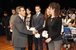 Laureati premiati dal Vicepresidente Capeglioni