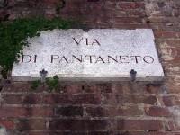 Via Pantaneto targa