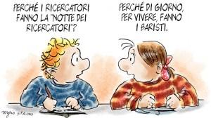 La vignetta di Sergio Staino dedicata a La Notte dei Ricercatori