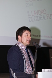 Fabio Seggiani, segretario FIllea Cgil Siena