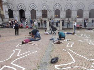 foto siena 2019 flash mob piazza