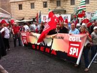 foto spi cgil siena a roma