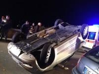 incidente auto ribaltata san marco
