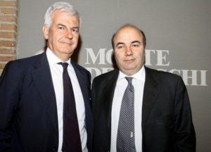 Il presidente di Banca Mps Profumo e l'Ad Viola